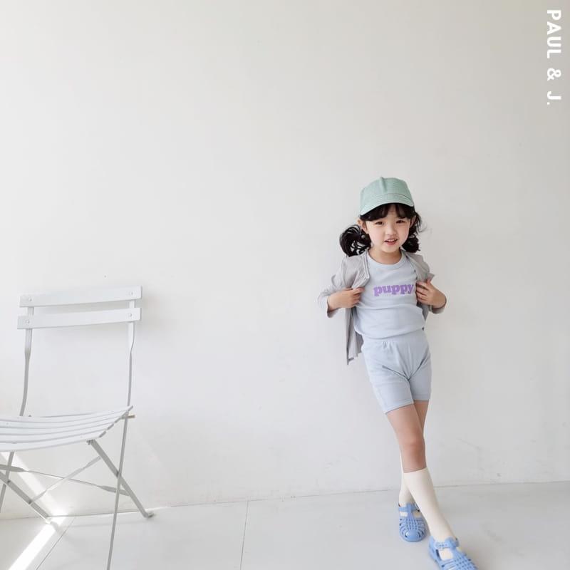 PAUL & J - Korean Children Fashion - #Kfashion4kids - Puppy Top Bottom Set - 12