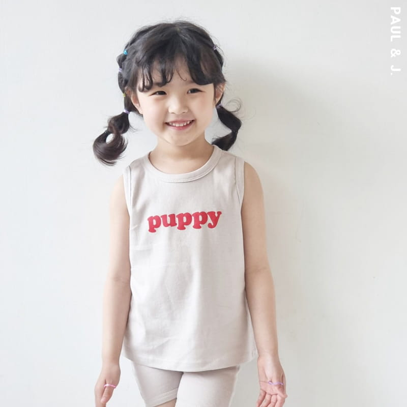 PAUL & J - Korean Children Fashion - #Kfashion4kids - Puppy Top Bottom Set - 4