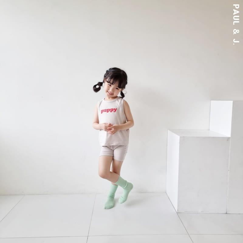 PAUL & J - Korean Children Fashion - #Kfashion4kids - Puppy Top Bottom Set - 5