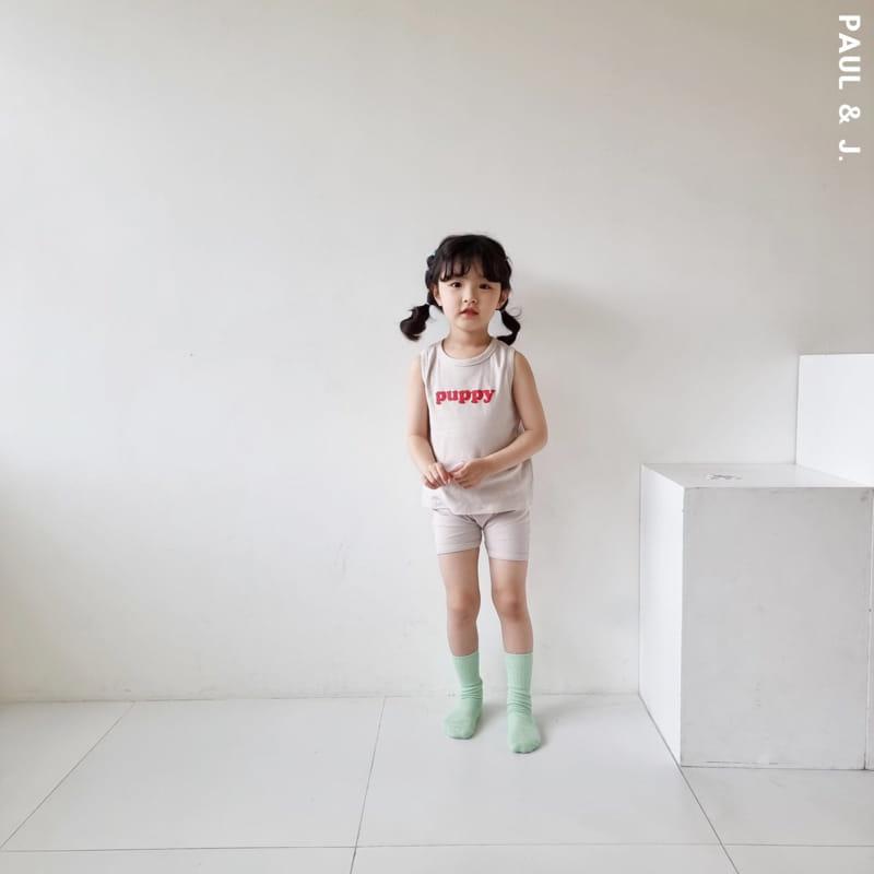 PAUL & J - Korean Children Fashion - #Kfashion4kids - Puppy Top Bottom Set - 6