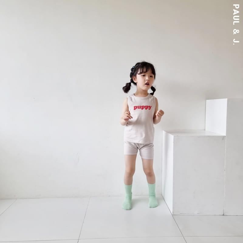 PAUL & J - Korean Children Fashion - #Kfashion4kids - Puppy Top Bottom Set - 7