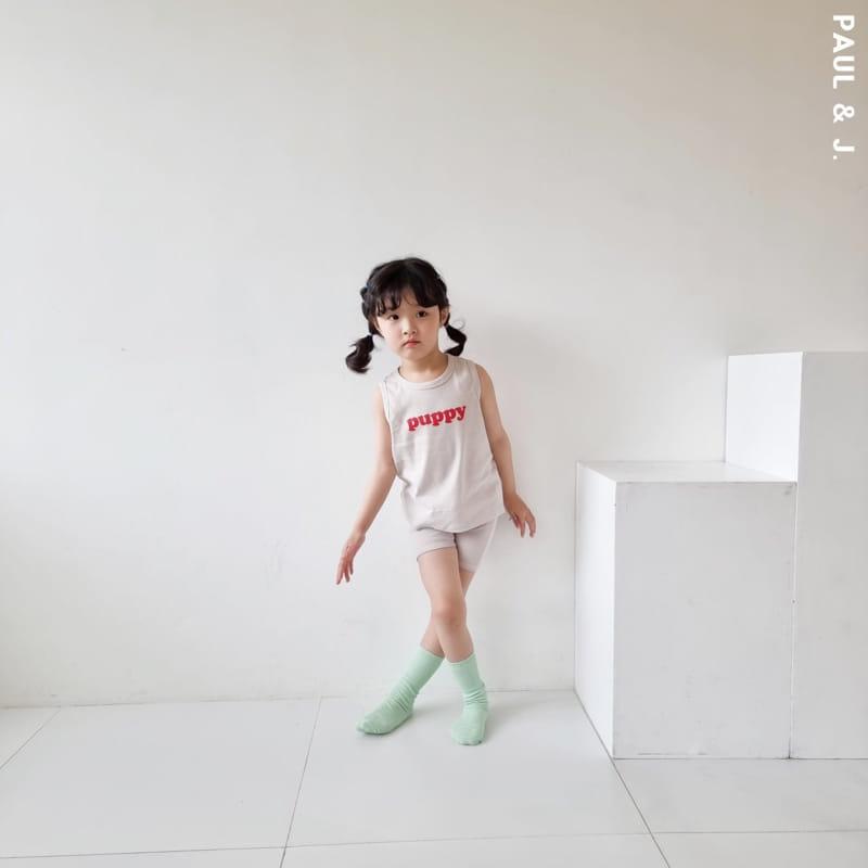 PAUL & J - Korean Children Fashion - #Kfashion4kids - Puppy Top Bottom Set - 8