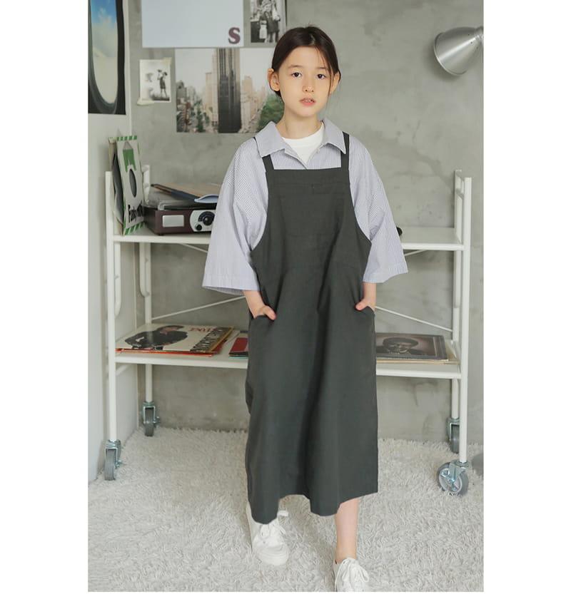PEACH-CREAM - Korean Children Fashion - #Kfashion4kids - Monopoly One-piece
