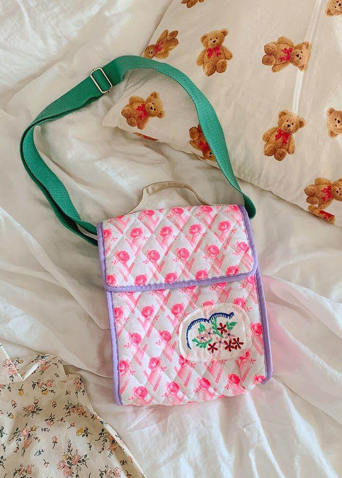 PINSON - Korean Children Fashion - #Kfashion4kids - Rose Quilting Bag