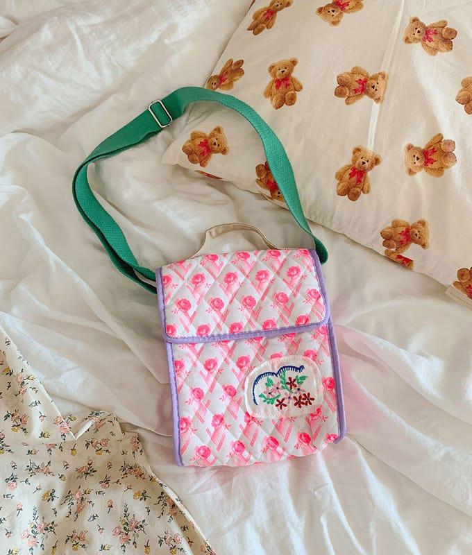 PINSON - BRAND - Korean Children Fashion - #Kfashion4kids - Rose Quilting Bag