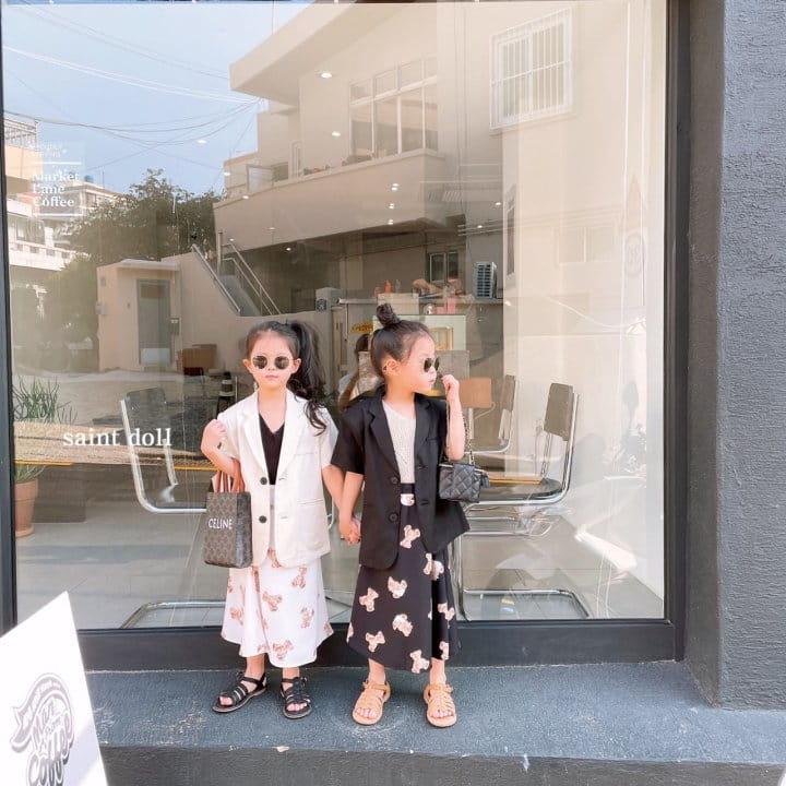 SAINT DOLL - Korean Children Fashion - #Kfashion4kids - Mom Bear Long Skirt