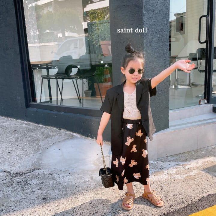 SAINT DOLL - Korean Children Fashion - #Kfashion4kids - Mom Bear Long Skirt - 12
