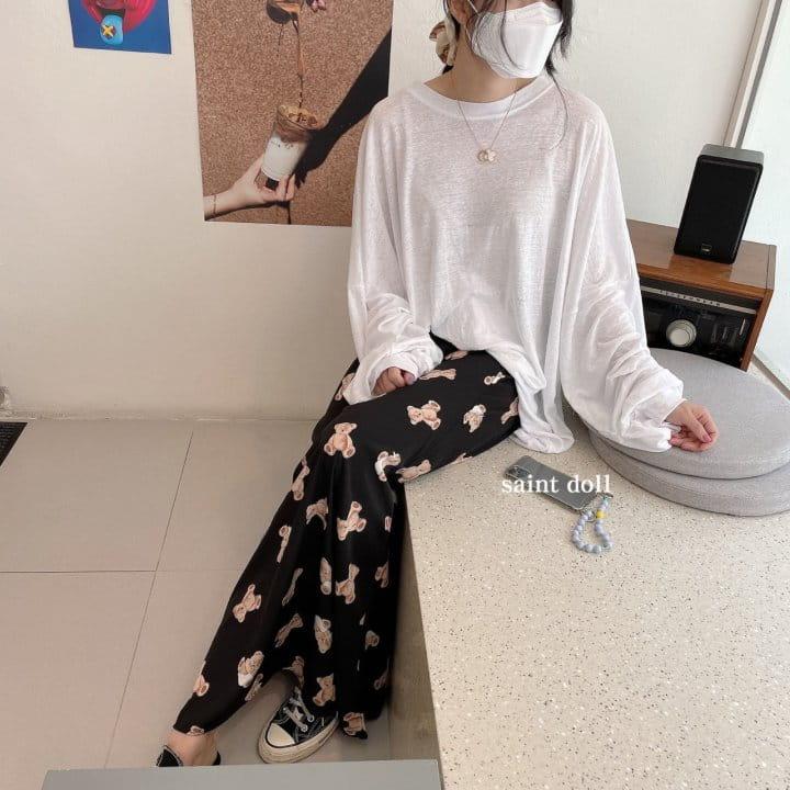 SAINT DOLL - Korean Children Fashion - #Kfashion4kids - Mom Bear Long Skirt - 2