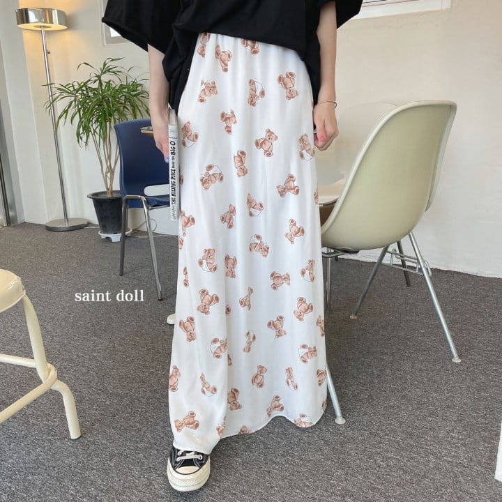 SAINT DOLL - Korean Children Fashion - #Kfashion4kids - Mom Bear Long Skirt - 4