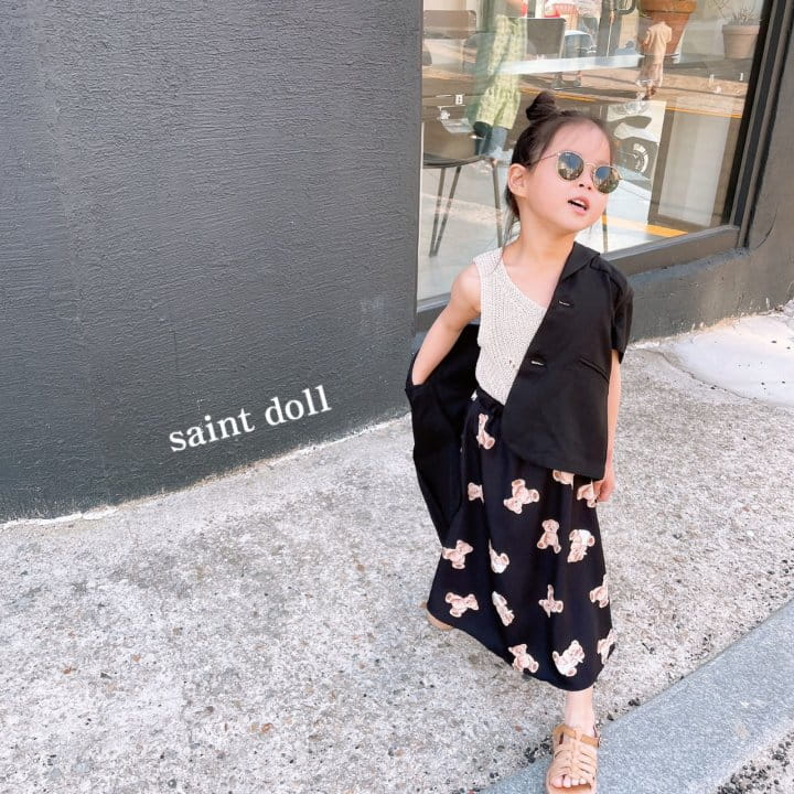SAINT DOLL - Korean Children Fashion - #Kfashion4kids - Mom Bear Long Skirt - 8