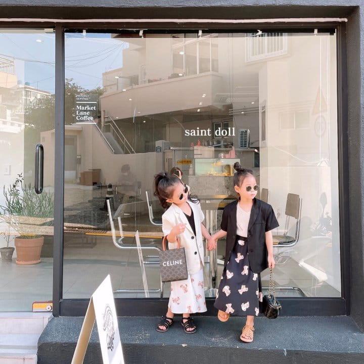 SAINT DOLL - BRAND - Korean Children Fashion - #Kfashion4kids - Mom Bear Long Skirt