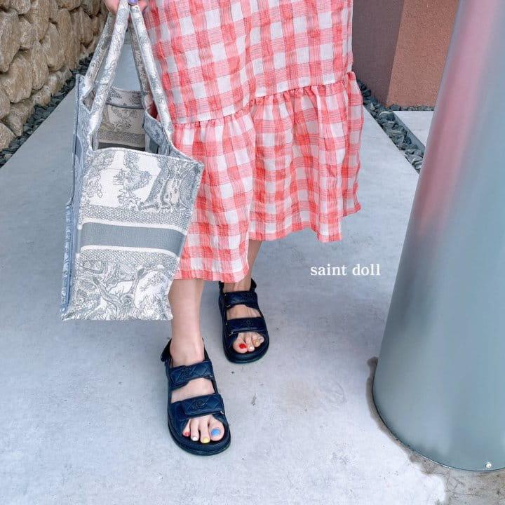 SAINT DOLL - Korean Children Fashion - #Kfashion4kids - Mom Check Neon One-piece