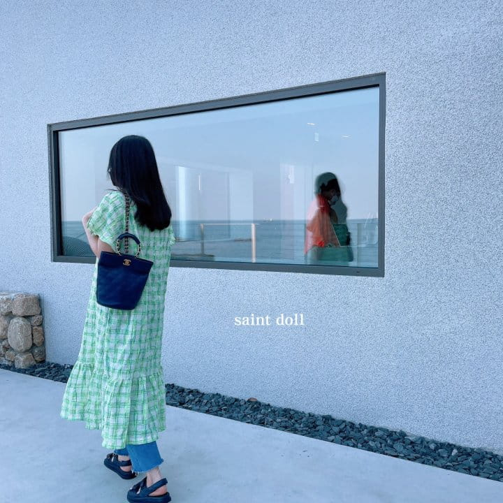 SAINT DOLL - Korean Children Fashion - #Kfashion4kids - Mom Check Neon One-piece - 10