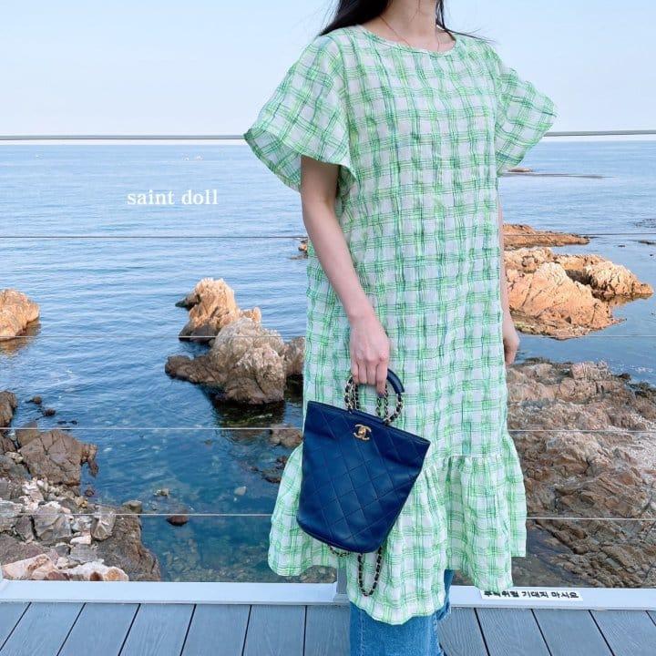 SAINT DOLL - Korean Children Fashion - #Kfashion4kids - Mom Check Neon One-piece - 11