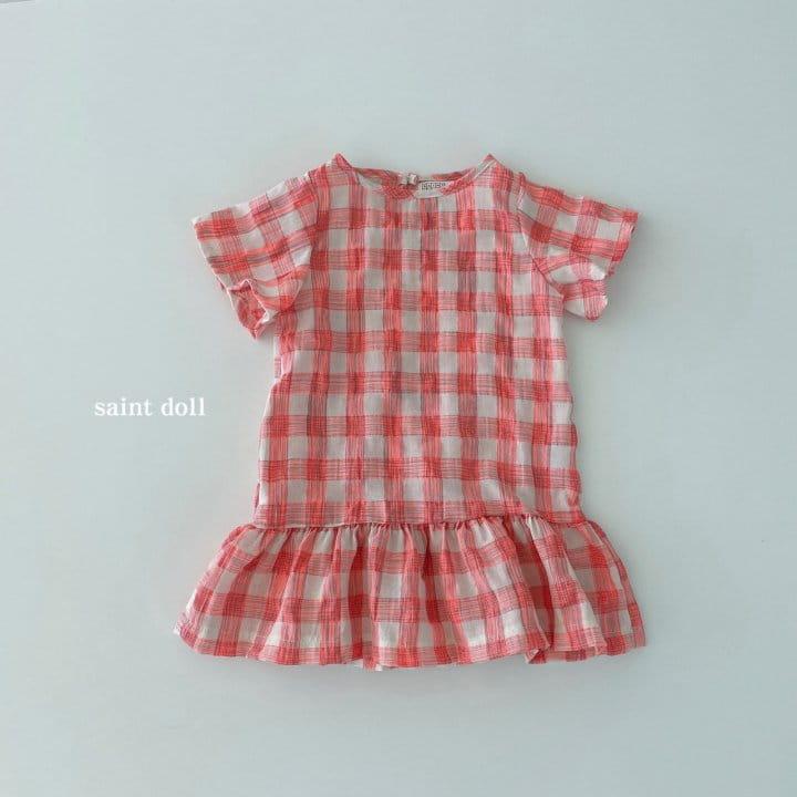 SAINT DOLL - Korean Children Fashion - #Kfashion4kids - Mom Check Neon One-piece - 12