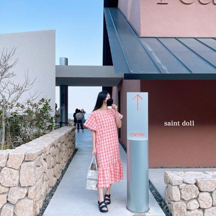 SAINT DOLL - Korean Children Fashion - #Kfashion4kids - Mom Check Neon One-piece - 2