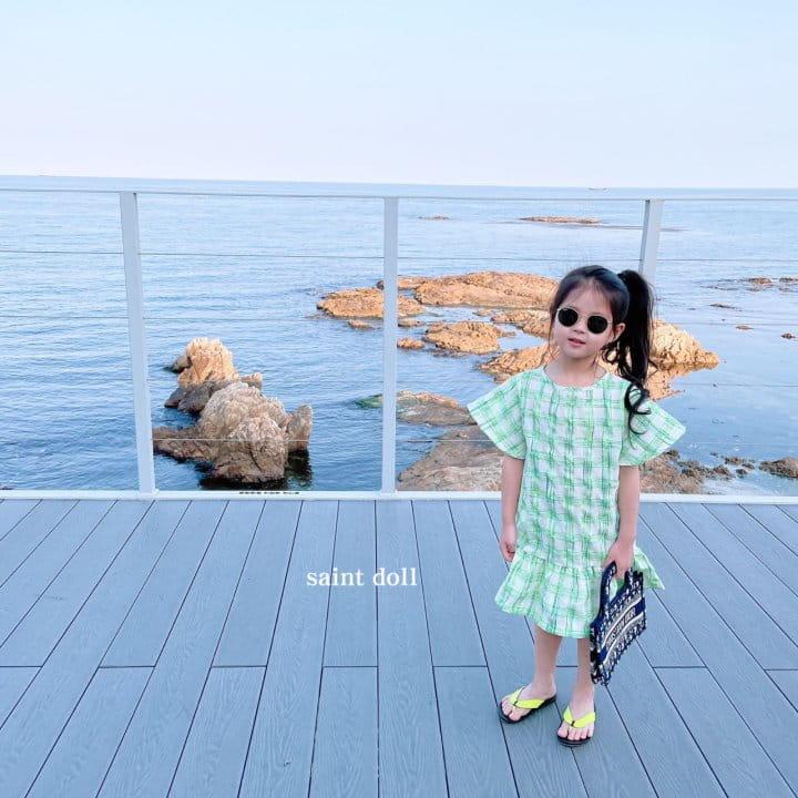 SAINT DOLL - Korean Children Fashion - #Kfashion4kids - Mom Check Neon One-piece - 5