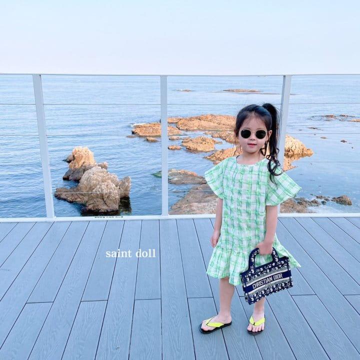 SAINT DOLL - Korean Children Fashion - #Kfashion4kids - Mom Check Neon One-piece - 7