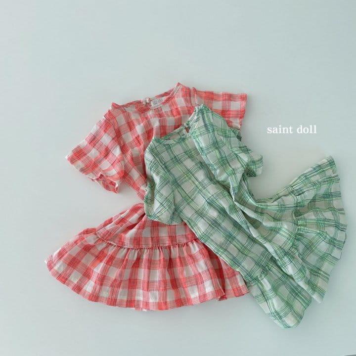 SAINT DOLL - Korean Children Fashion - #Kfashion4kids - Mom Check Neon One-piece - 8
