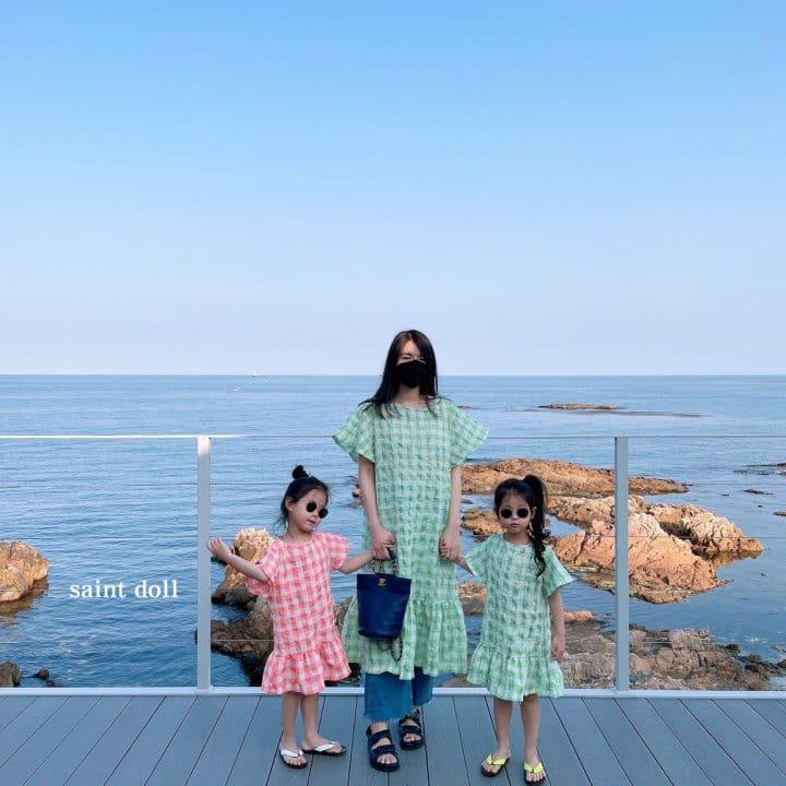 SAINT DOLL - Korean Children Fashion - #Kfashion4kids - Mom Check Neon One-piece - 9