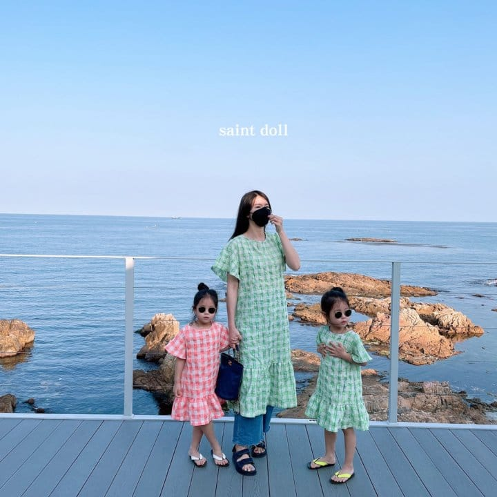 SAINT DOLL - BRAND - Korean Children Fashion - #Kfashion4kids - Mom Check Neon One-piece