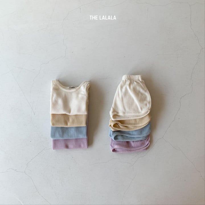 THE LALALA - Korean Children Fashion - #Kfashion4kids - Waffle Sleeveless Bottom Set - 4