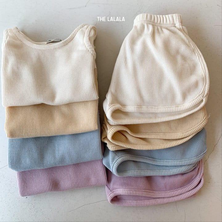 THE LALALA - Korean Children Fashion - #Kfashion4kids - Waffle Sleeveless Bottom Set - 9