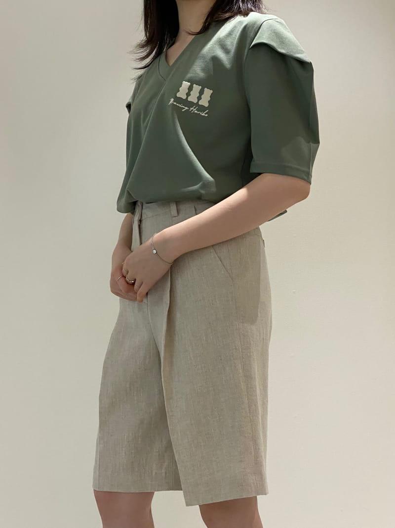 1968 - Korean Children Fashion - #Kfashion4kids - V Neck Sleeve Dart Tee - 3