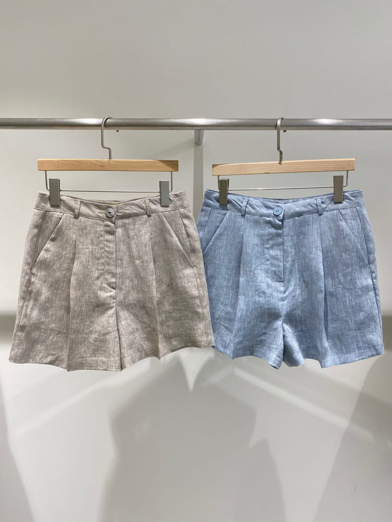 1968 - Korean Children Fashion - #Kfashion4kids - Linen Pre Dyeing Shorts - 2