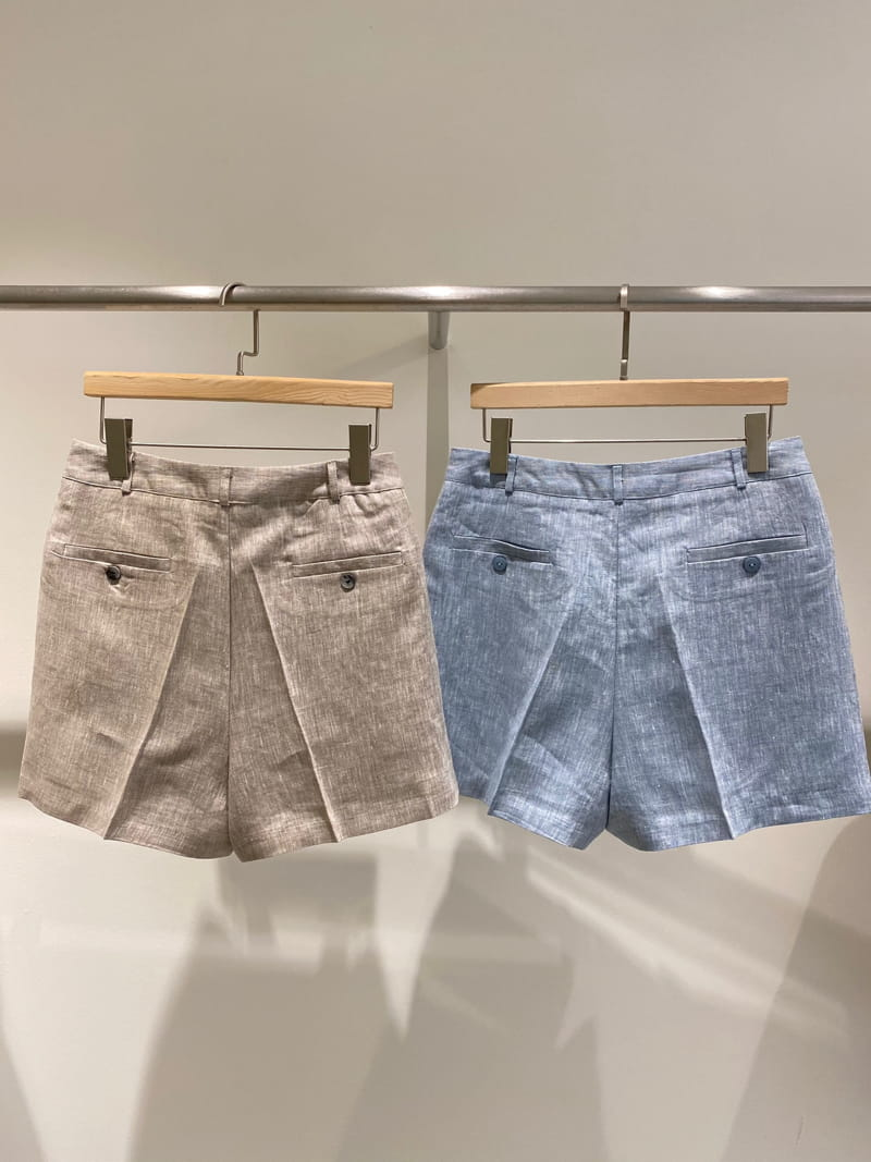 1968 - Korean Children Fashion - #Kfashion4kids - Linen Pre Dyeing Shorts - 3