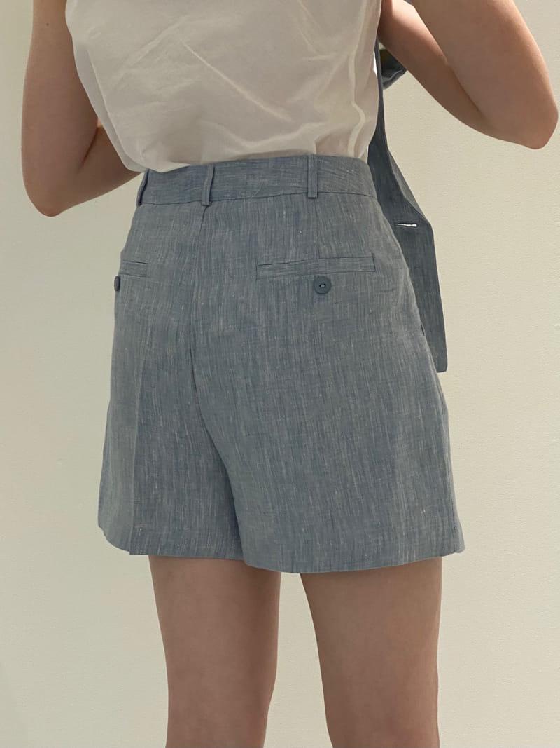1968 - Korean Children Fashion - #Kfashion4kids - Linen Pre Dyeing Shorts - 4