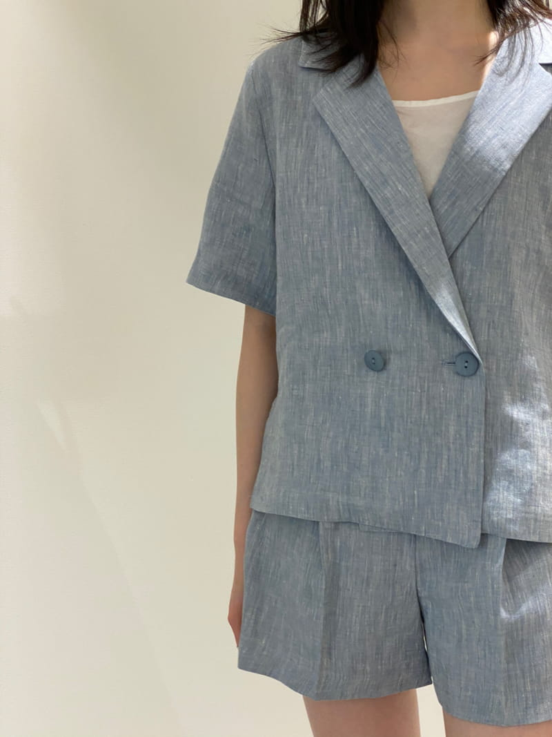 1968 - Korean Children Fashion - #Kfashion4kids - Linen Pre Dyeing Jacket