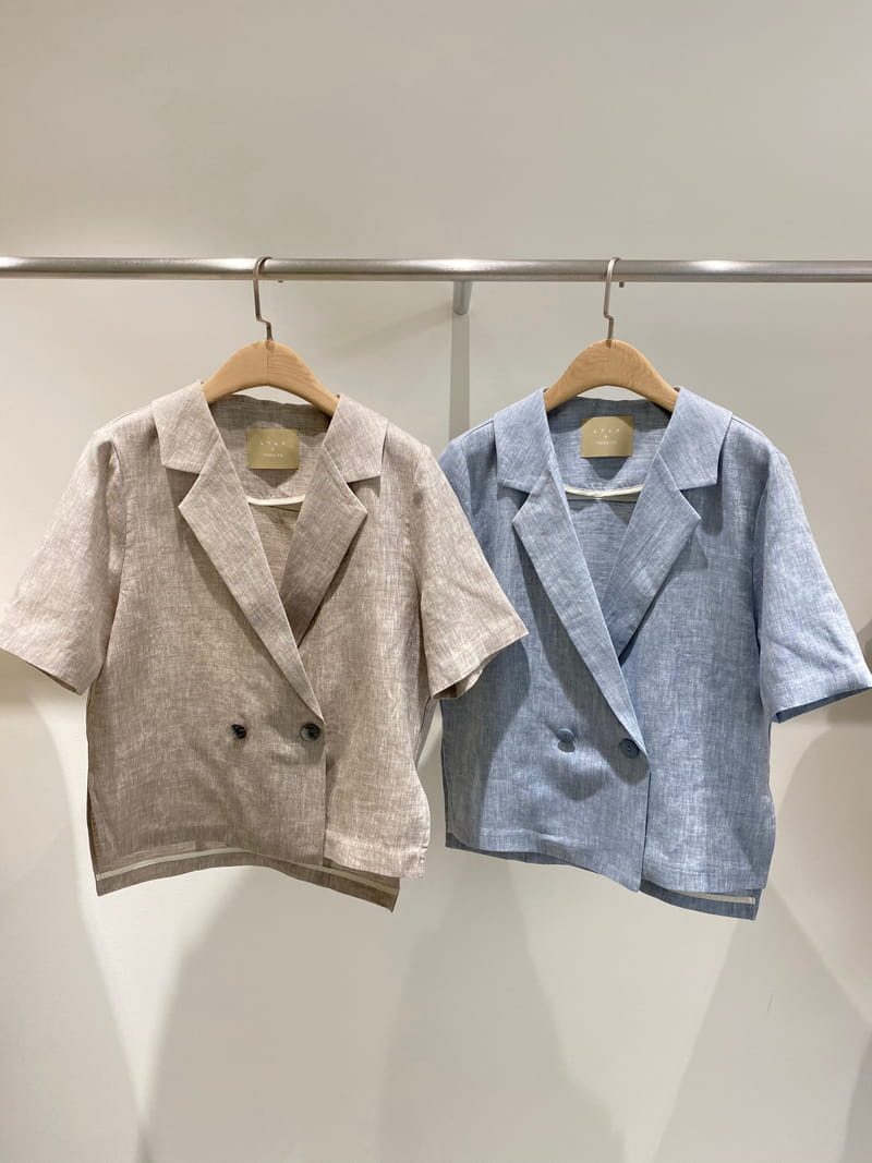 1968 - Korean Children Fashion - #Kfashion4kids - Linen Pre Dyeing Jacket - 2