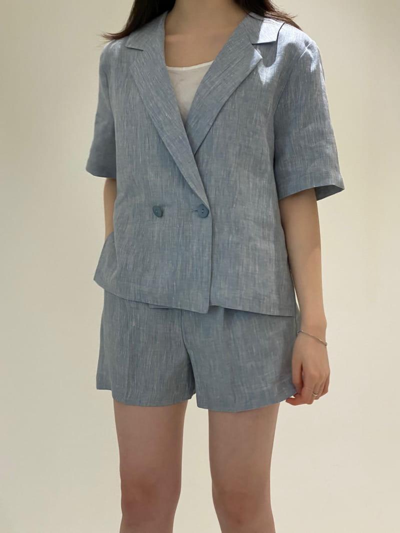 1968 - Korean Children Fashion - #Kfashion4kids - Linen Pre Dyeing Jacket - 4