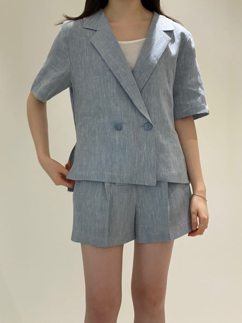 1968 - BRAND - Korean Children Fashion - #Kfashion4kids - Linen Pre Dyeing Jacket