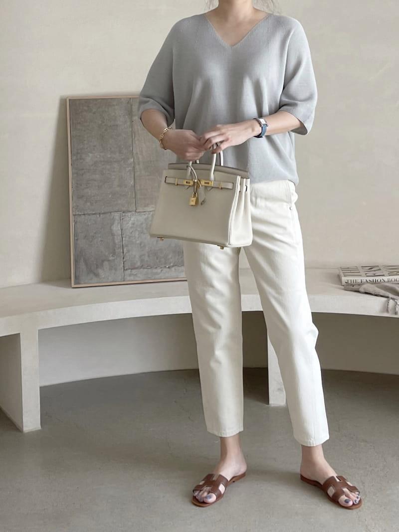 AFTER GLOW - Korean Children Fashion - #Kfashion4kids - Holgament Agndo V Knit - 3