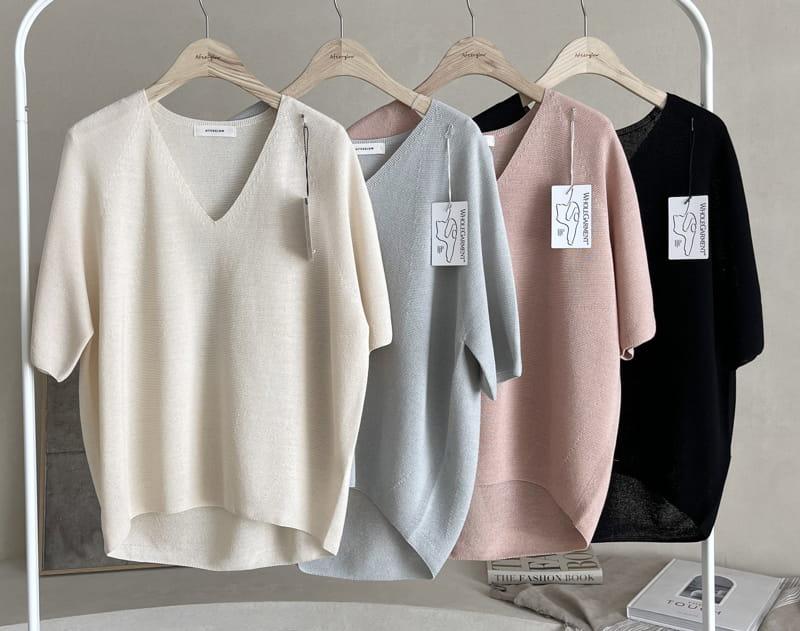 AFTER GLOW - BRAND - Korean Children Fashion - #Kfashion4kids - Holgament Agndo V Knit