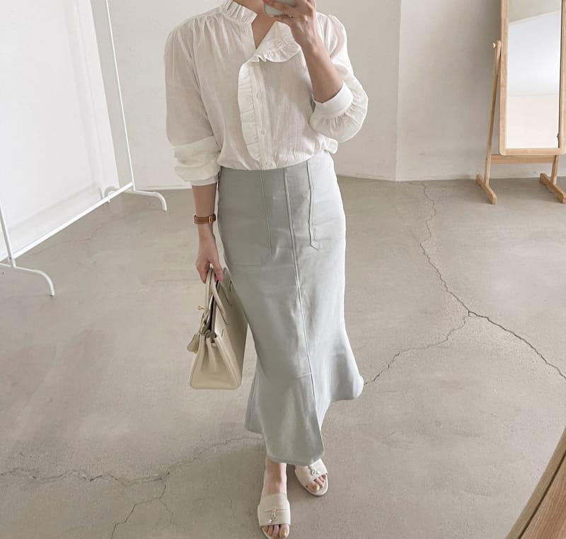 AFTER GLOW - Korean Children Fashion - #Kfashion4kids - Daim Unblance Skirt - 2