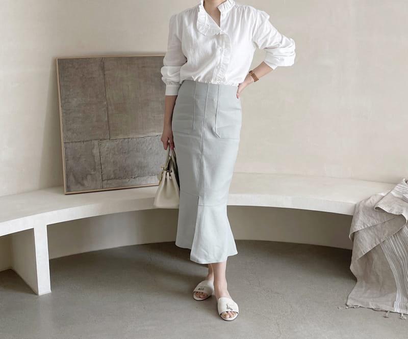 AFTER GLOW - Korean Children Fashion - #Kfashion4kids - Daim Unblance Skirt - 4