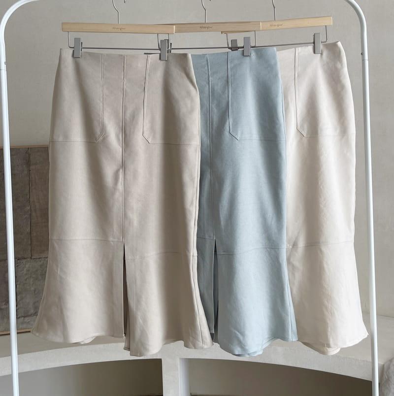 AFTER GLOW - BRAND - Korean Children Fashion - #Kfashion4kids - Daim Unblance Skirt
