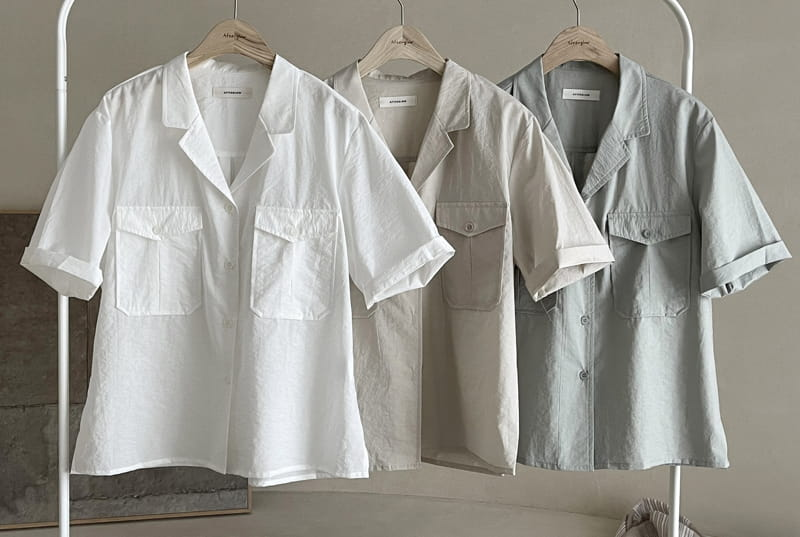 AFTER GLOW - BRAND - Korean Children Fashion - #Kfashion4kids - Lemel Pocket Shirt