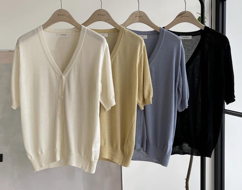 AFTER GLOW - BRAND - Korean Children Fashion - #Kfashion4kids - Ero V Knit Cardigan