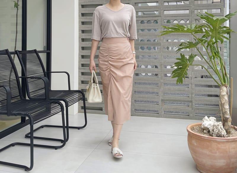 AFTER GLOW - Korean Children Fashion - #Kfashion4kids - Shirring Bending Skirt - 2