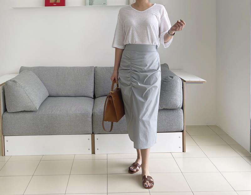 AFTER GLOW - Korean Children Fashion - #Kfashion4kids - Shirring Bending Skirt - 3