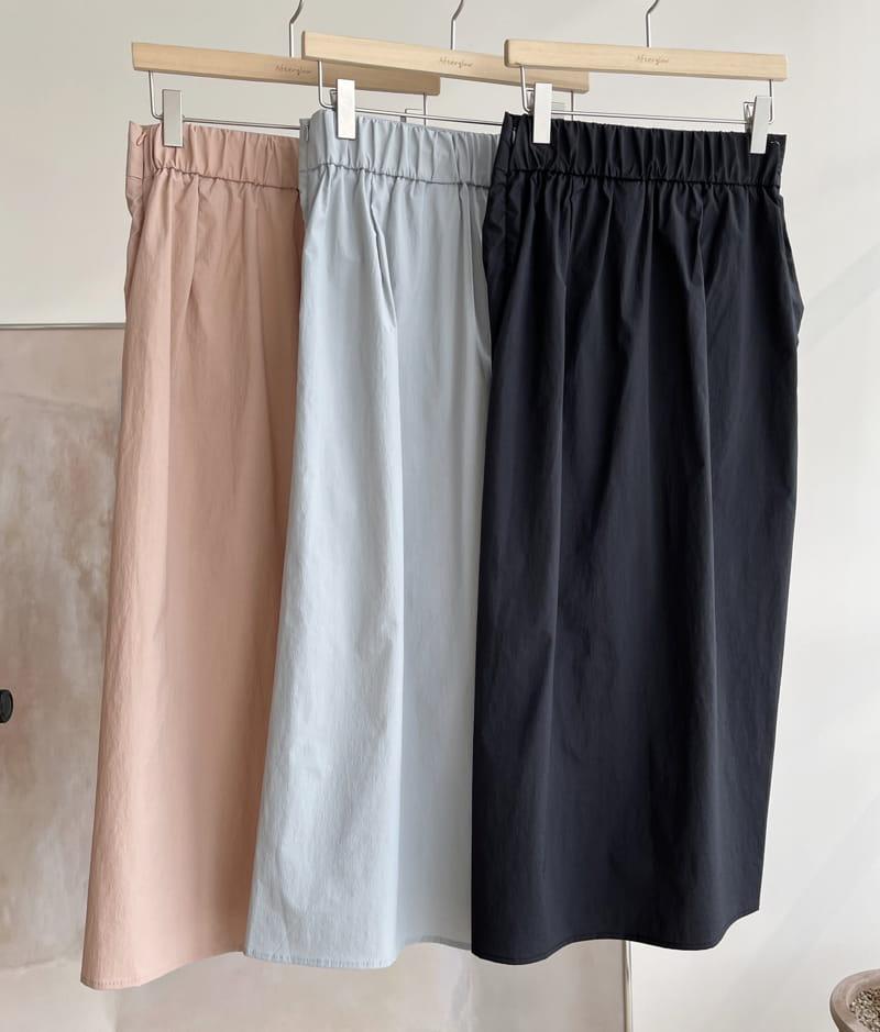AFTER GLOW - Korean Children Fashion - #Kfashion4kids - Shirring Bending Skirt - 4
