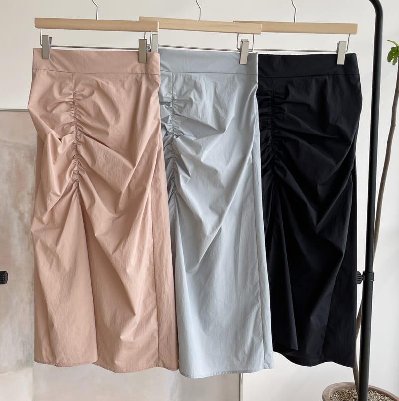 AFTER GLOW - BRAND - Korean Children Fashion - #Kfashion4kids - Shirring Bending Skirt