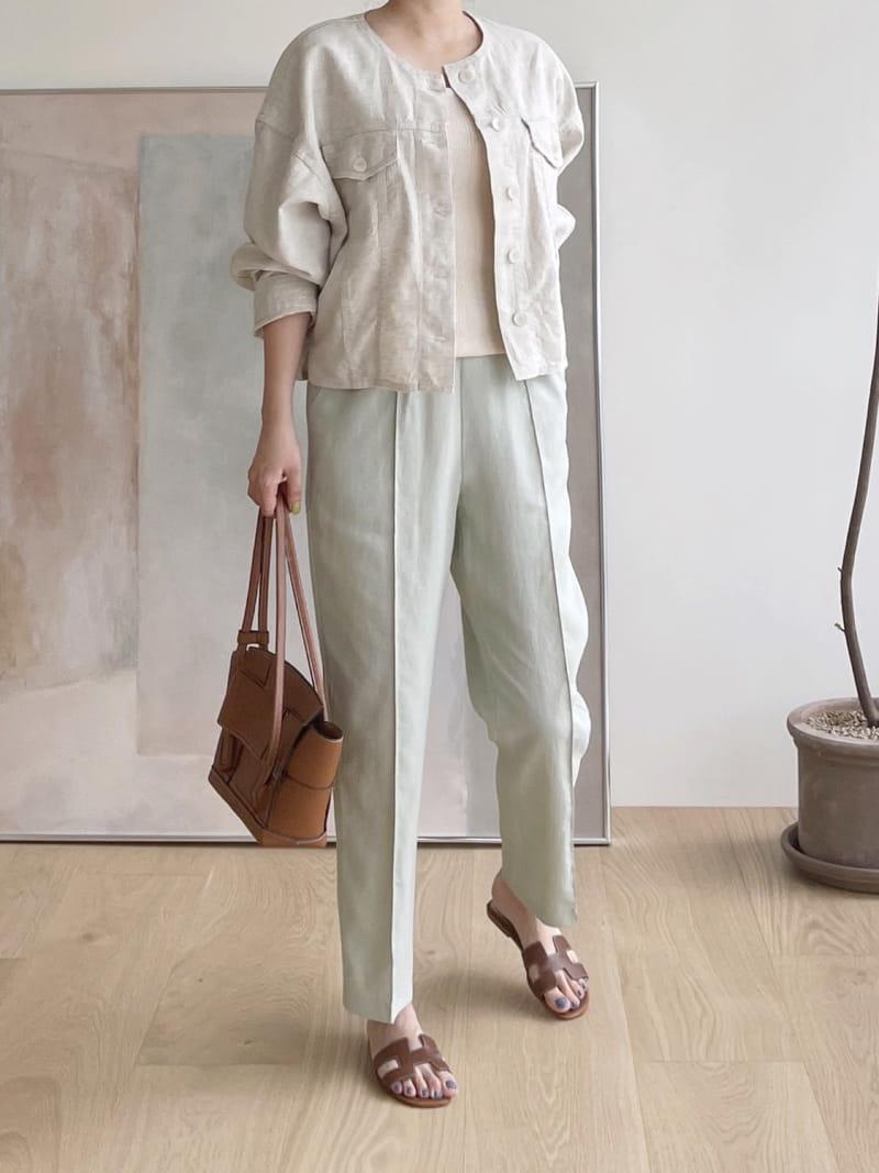 AFTER GLOW - Korean Children Fashion - #Kfashion4kids - Roy Linen Jacket