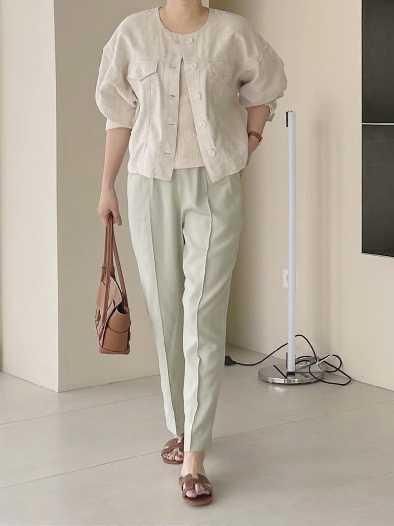 AFTER GLOW - Korean Children Fashion - #Kfashion4kids - Roy Linen Jacket - 4