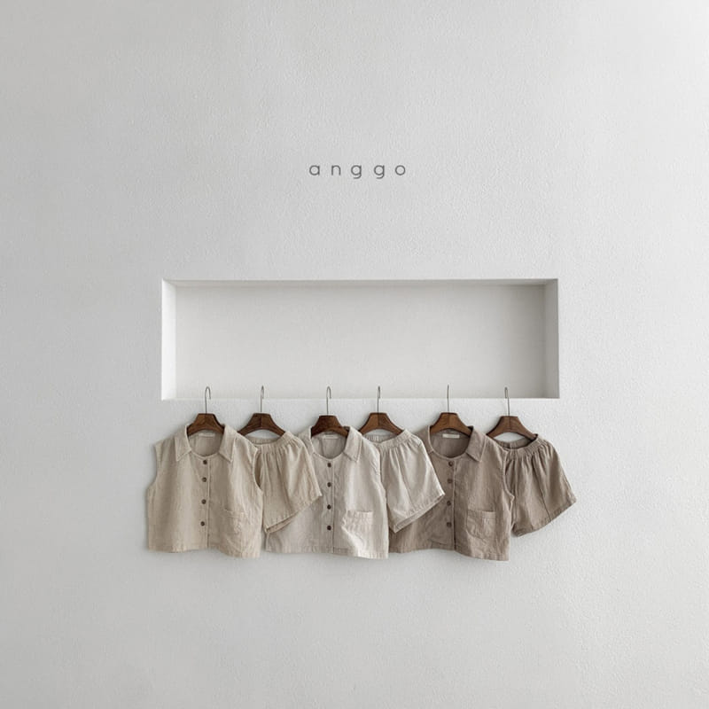 ANGGO - Korean Children Fashion - #Kfashion4kids - Mitzu Top Bottom Set