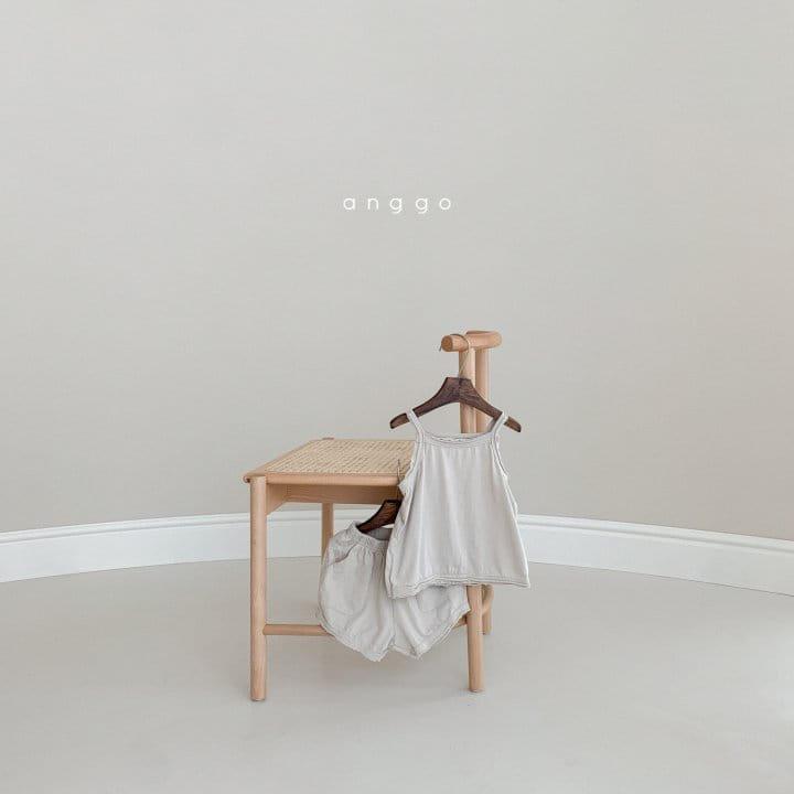 ANGGO - Korean Children Fashion - #Kfashion4kids - Monshell Top Bottom Set - 10